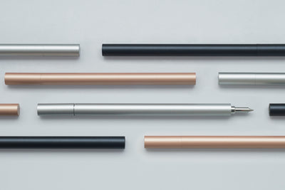 TEN Stationery Shell Rollerball Pen Rose Gold - NOMADO Store