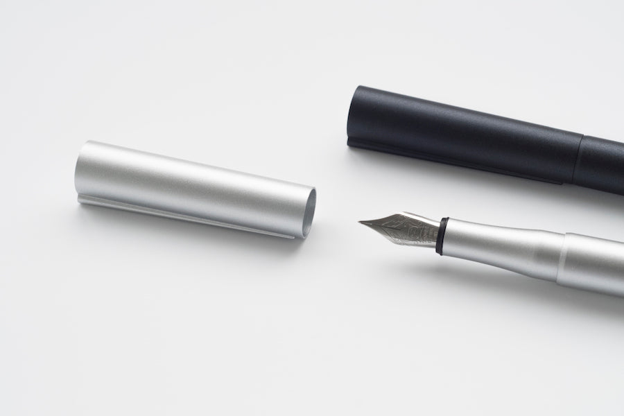 TEN Stationery Origin Fountain Pen (M/F) Silver - NOMADO Store