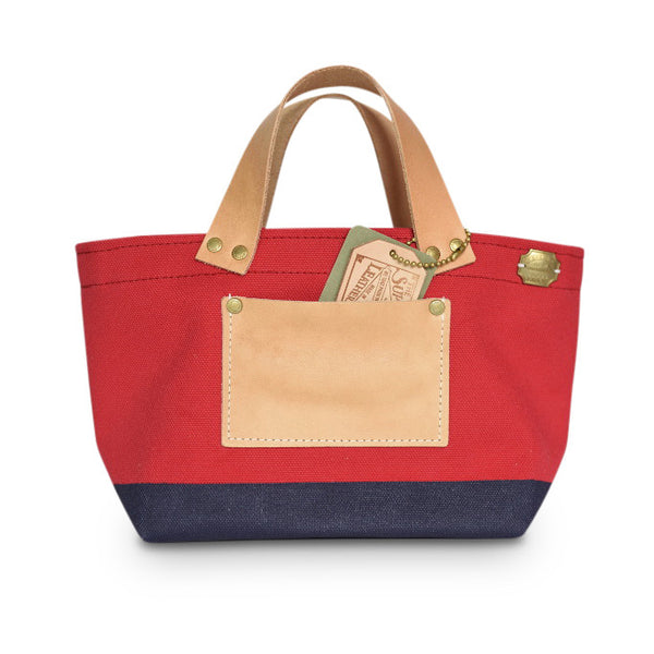 The Superior Labor Engineer Bag Petite Red/Navy Paint. - NOMADO Store