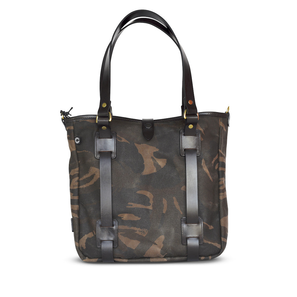 CROOTS WAXED CAMOUFLAGE TOTE BAG - L or M - NOMADO Store