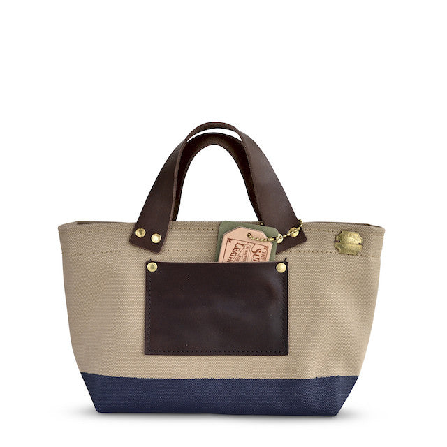 The Superior Labor Engineer Bag Petite beige/navy paint - NOMADO Store