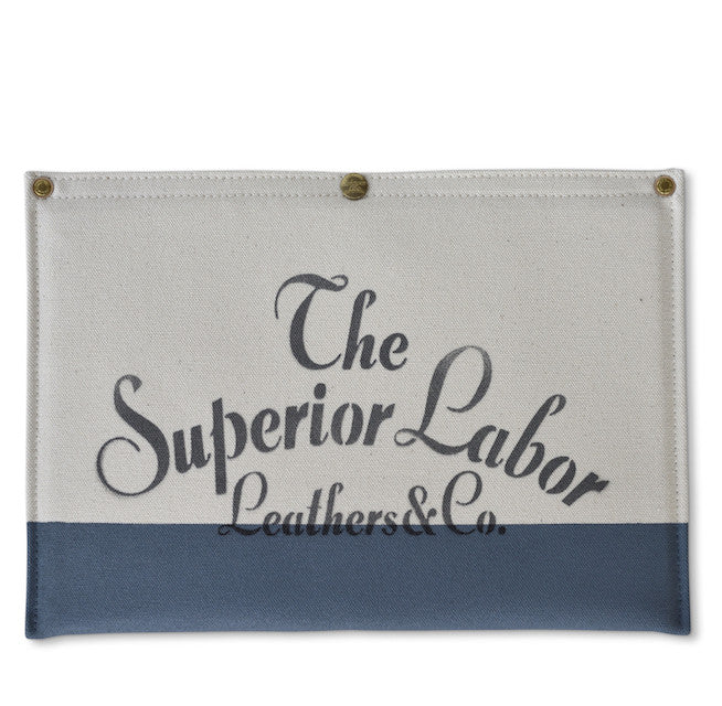 The Superior Labor Canvas Laptop Sleeve (natural/blue grey) - NOMADO Store