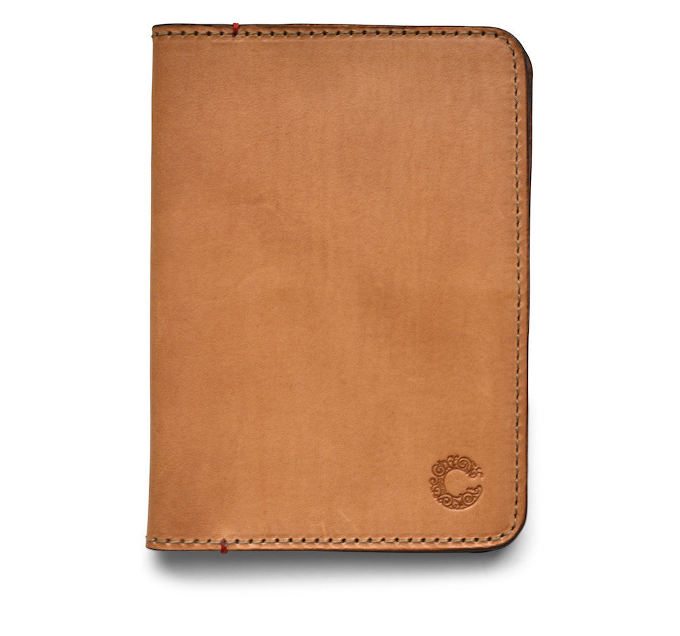 CROOTS VINTAGE LEATHER PASSPORT WALLET (natural) - NOMADO Store