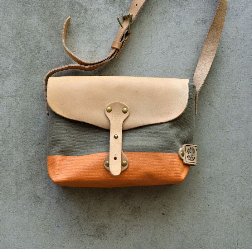 The Superior Labor Paint small Shoulder bag khaki+orange PRE-ORDER - NOMADO Store