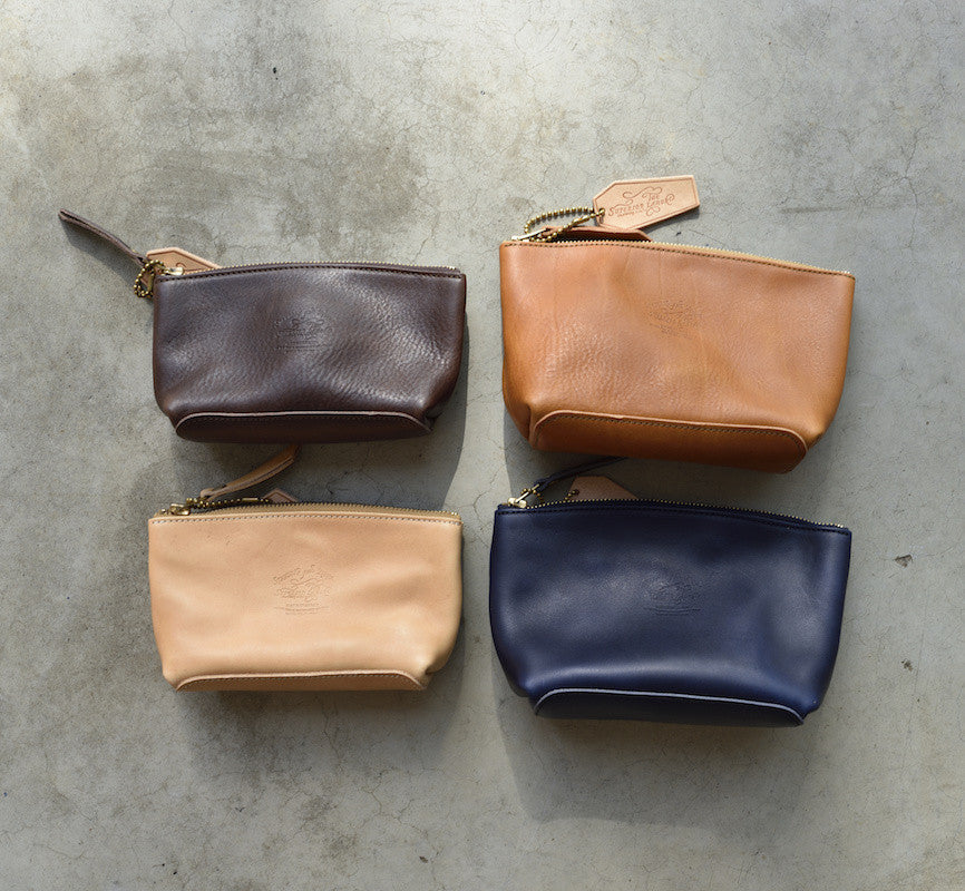 The Superior Labor leather pouch Size L (navy, natural, dark brown, camel)