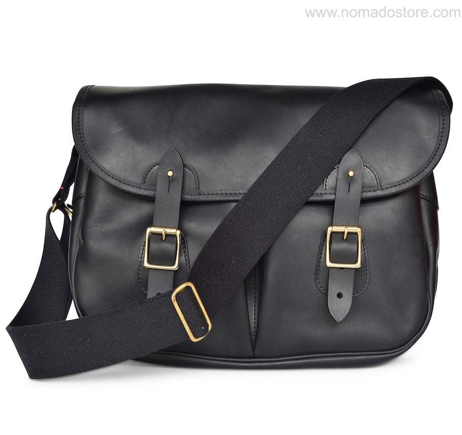 CROOTS DALBY CARRYALL VINTAGE LEATHER (L) (Black) - NOMADO Store