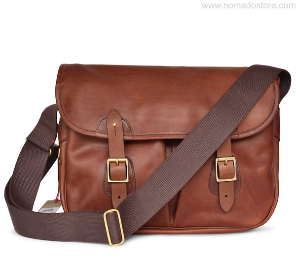 CROOTS DALBY VINTAGE LEATHER CARRYALL BAG (L) Port - NOMADO Store