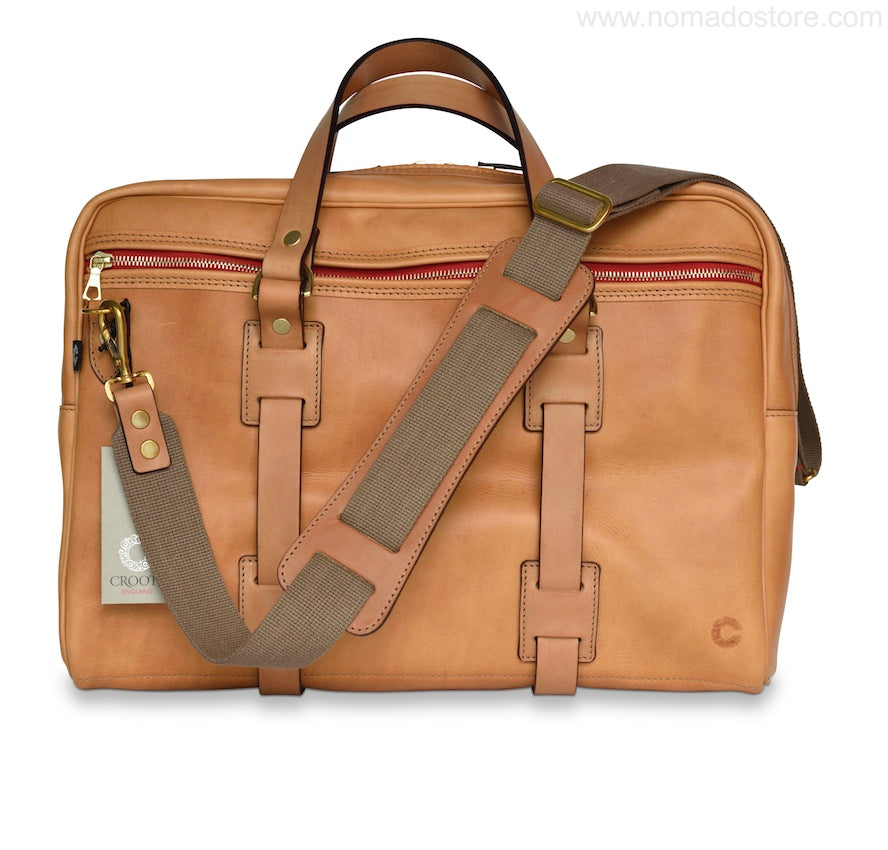 CROOTS VINTAGE LEATHER LAPTOP BAG (Natural) - NOMADO Store