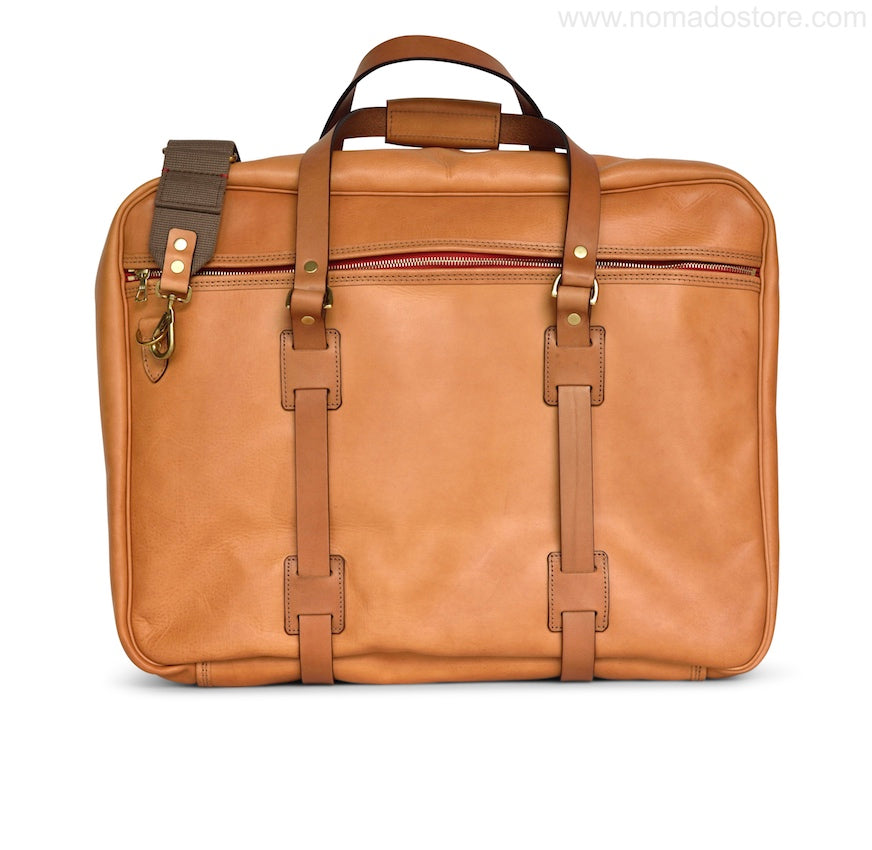 CROOTS VINTAGE LEATHER RANGE FLIGHT BAG (Natural) PRE-ORDER - NOMADO Store