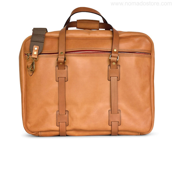 CROOTS VINTAGE LEATHER RANGE FLIGHT BAG (Natural)