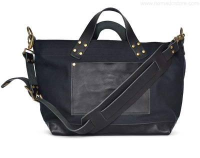 The Superior Labor Engineer Shoulder bag S black body black leather bottom - NOMADO Store