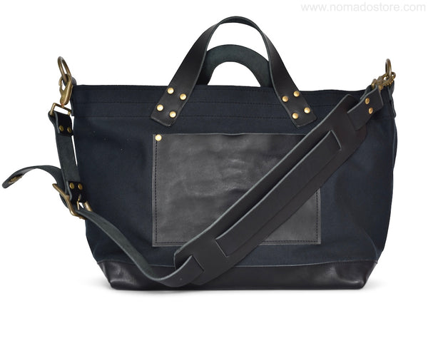The Superior Labor Engineer Shoulder bag S black body black leather bottom PRE-ORDER - NOMADO Store