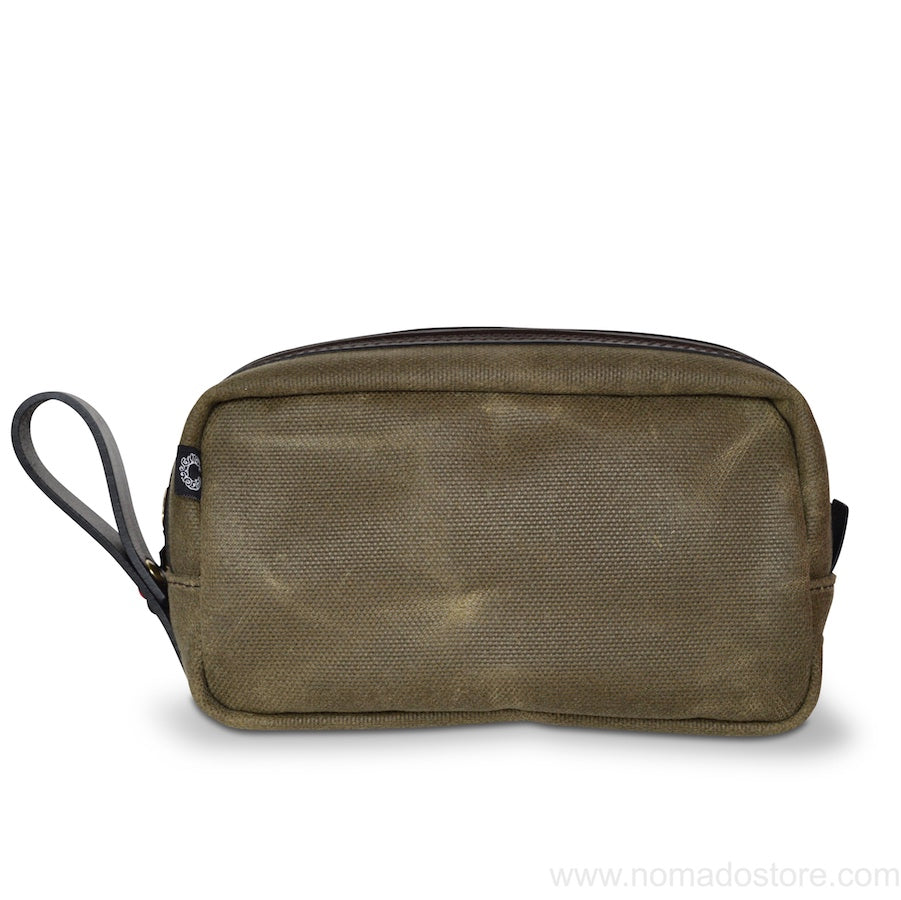 CROOTS VINTAGE CANVAS OLIVE WASH BAG - NOMADO Store