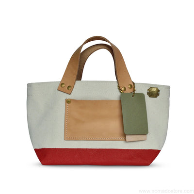 The Superior Labor Engineer Bag Petite Natural/Red Paint PRE-ORDER - NOMADO Store