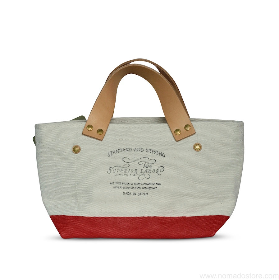 The Superior Labor Engineer Bag Petite Natural/Red Paint - NOMADO Store