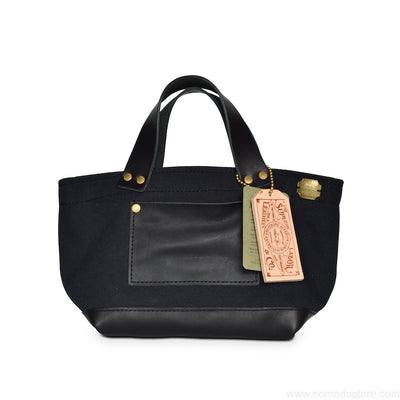 The Superior Labor Engineer Bag Petite Ltd Edition Black canvas black leather - NOMADO Store