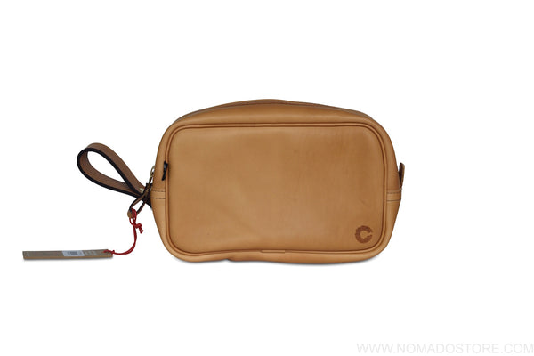 CROOTS VINTAGE LEATHER WASH BAG (3 colours)