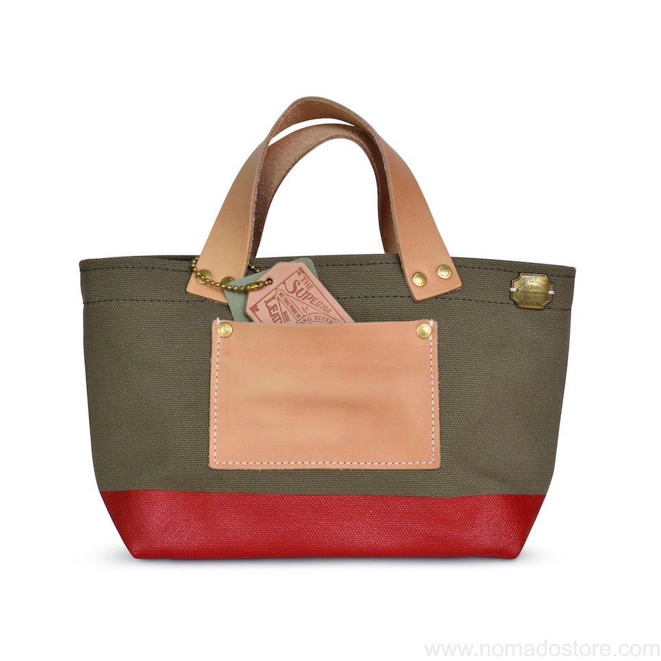 The Superior Labor Engineer Bag Petite Khaki/Red paint - NOMADO Store