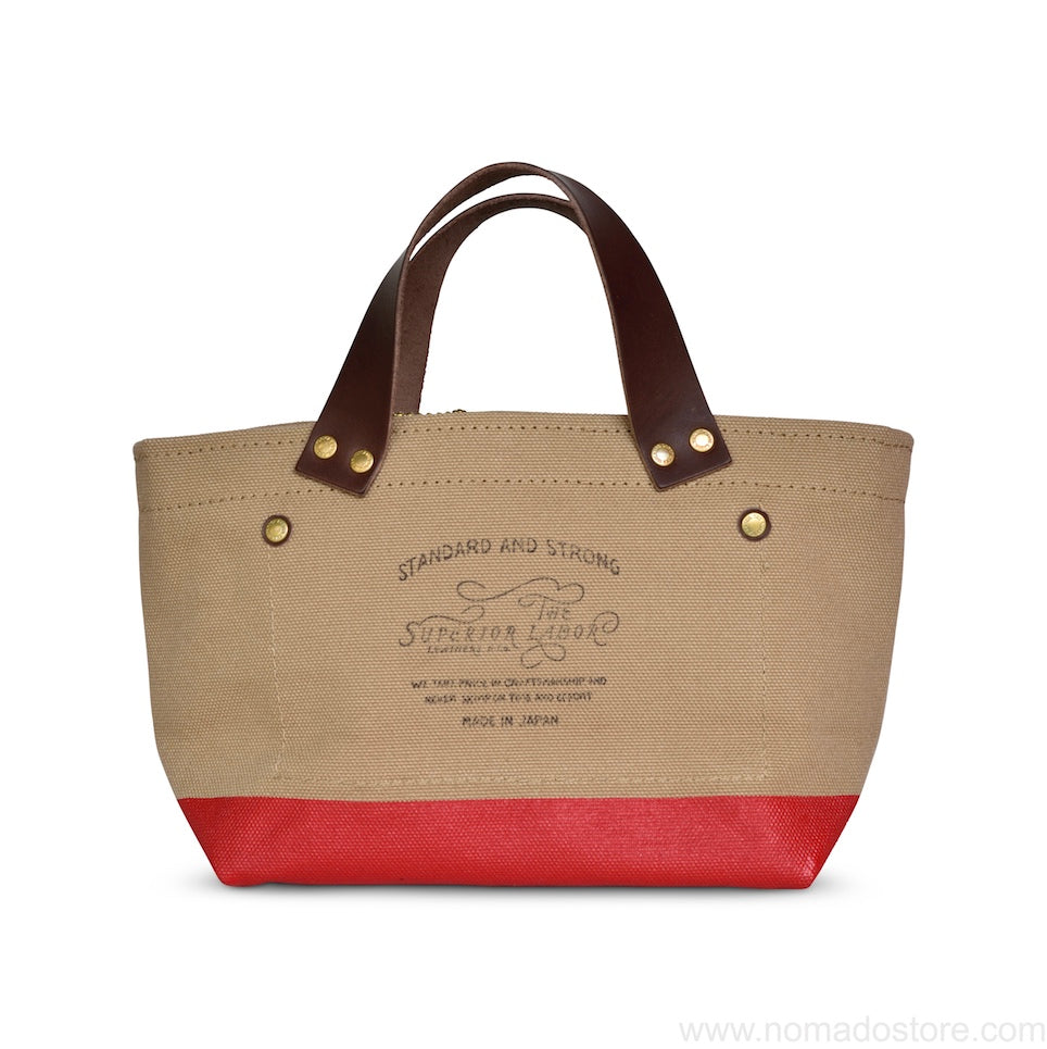 The Superior Labor Engineer Bag Petite Beige/Red paint PRE-ORDER - NOMADO Store