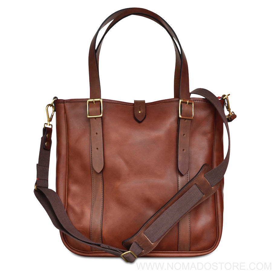 CROOTS VINTAGE LEATHER MEDIUM TOTE BAG - PORT
