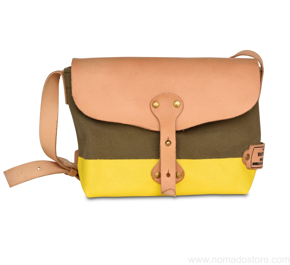 The Superior Labor Paint small Shoulder bag khaki+yellow - NOMADO Store