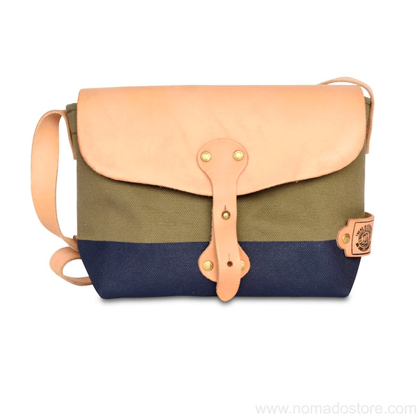 The Superior Labor Paint small Shoulder bag khaki+navy - NOMADO Store