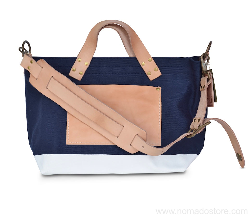 The Superior Labor engineer shoulder bag S navy body white paint - NOMADO Store