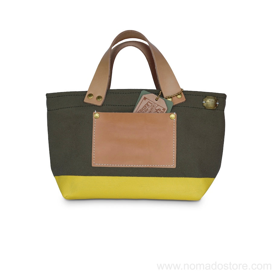 The Superior Labor Engineer Bag Petite Khaki/Yellow paint - NOMADO Store