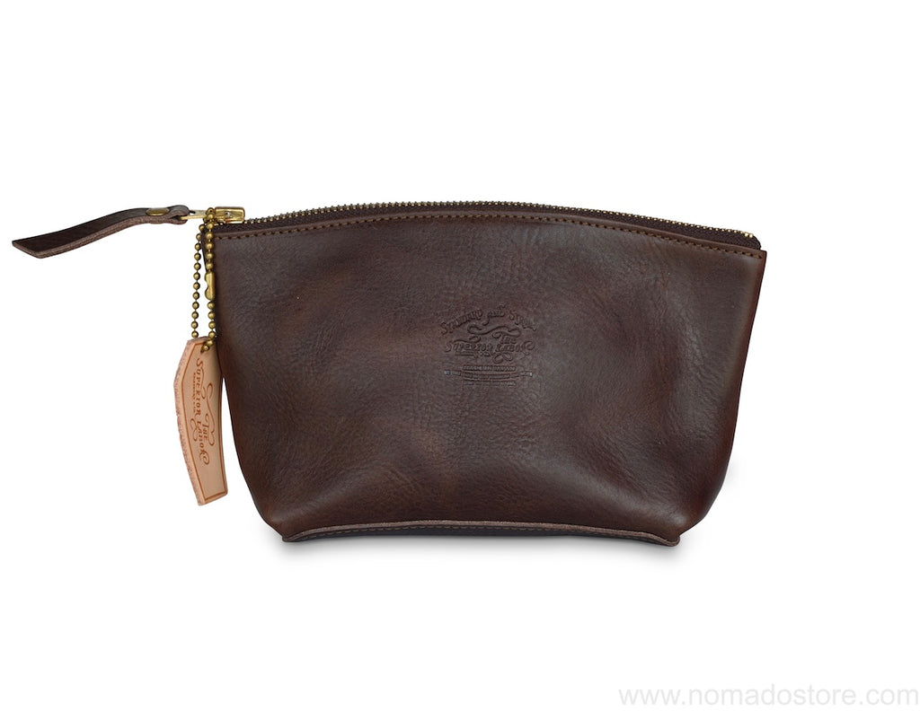 The Superior Labor leather pouch Size L (navy, natural, dark brown, camel) - NOMADO Store