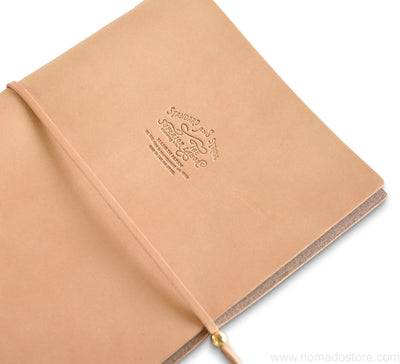 "The Superior Labor A5 ""Re-use"" Leather Notebook Cover (3 colours) - NOMADO Store"
