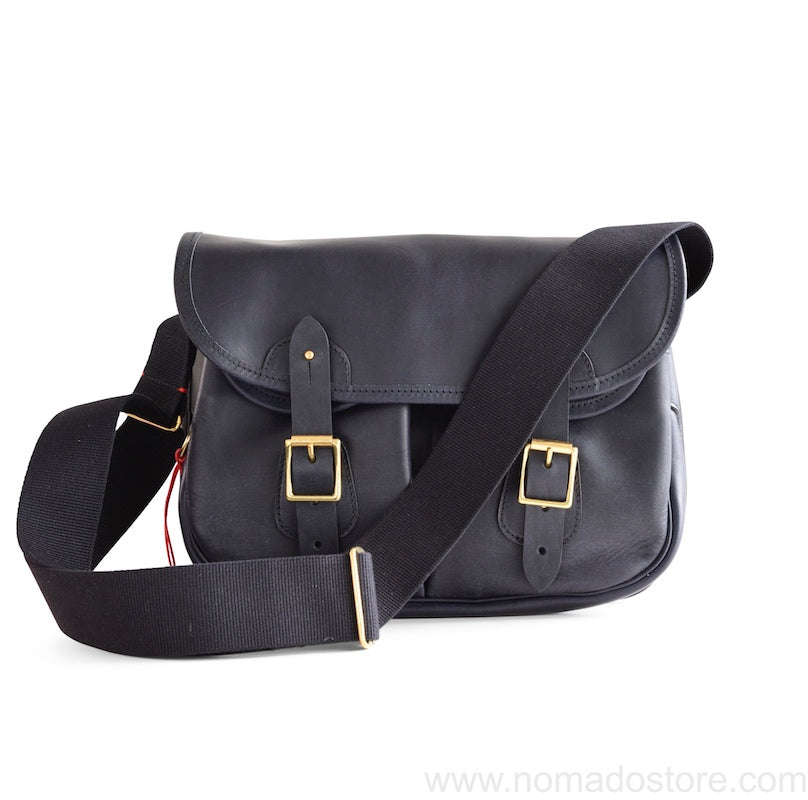 CROOTS DALBY VINTAGE LEATHER CARRYALL BAG (M) (Navy blue) - NOMADO Store