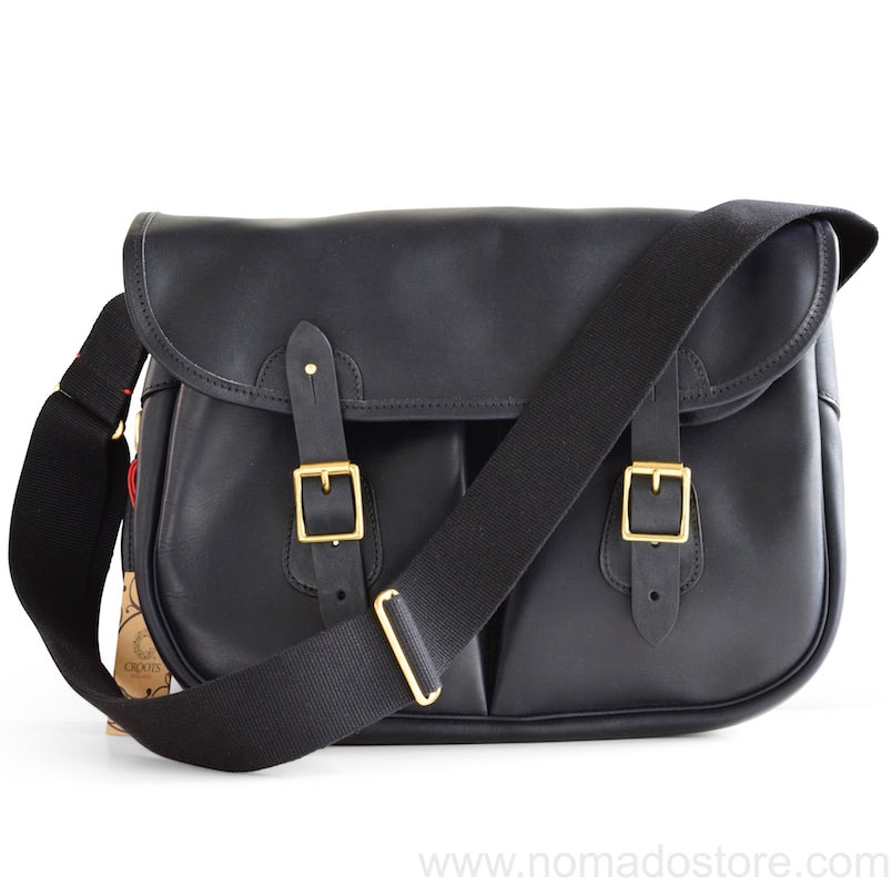 CROOTS DALBY CARRYALL VINTAGE LEATHER (L) (Navy blue) - NOMADO Store