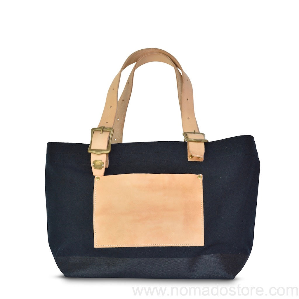 The Superior Labor Engineer Tote bag S black body black paint natural leather - NOMADO Store