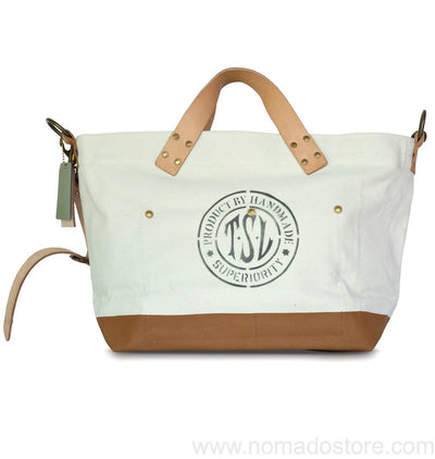 The Superior Labor engineer shoulder bag S natural body tan paint PRE-ORDER - NOMADO Store