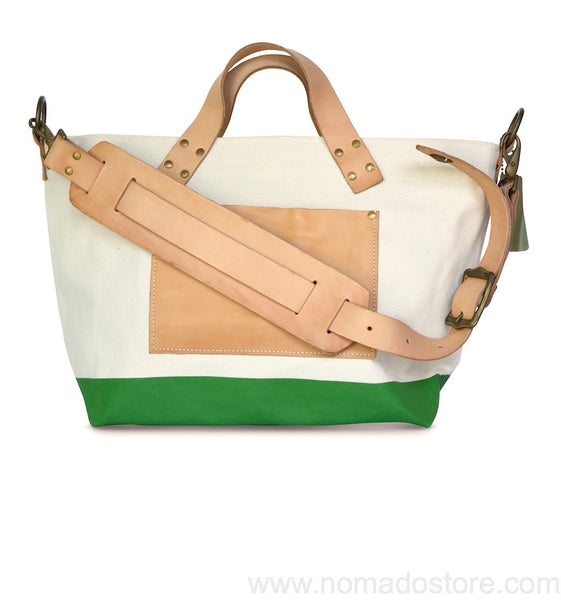 The Superior Labor engineer shoulder bag S natural body green paint