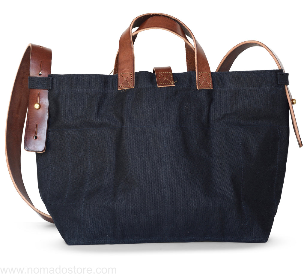 Peg and Awl Waxed Canvas Tote - Coal/Zipper - NOMADO Store