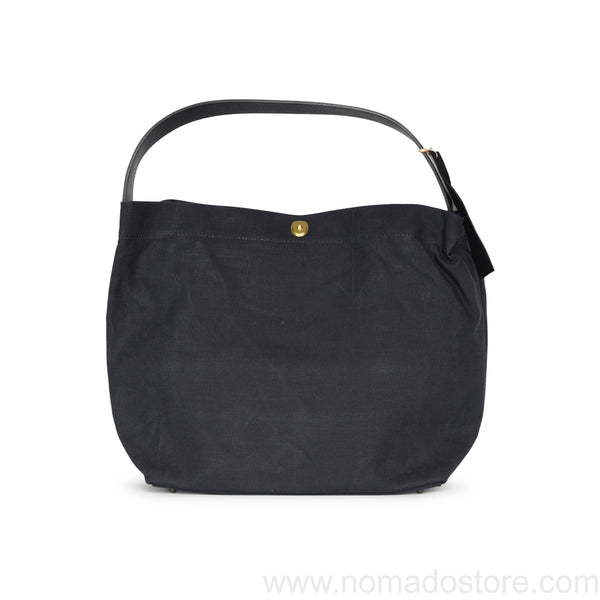 Marineday Minifish Linen Canvas Shoulder Bag (Black) - NOMADO Store