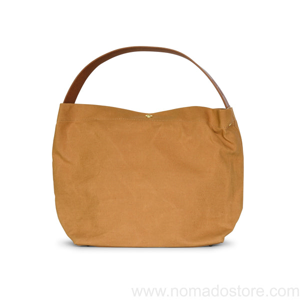 Marineday Minifish Linen Canvas Shoulder Bag (Mustard) - NOMADO Store