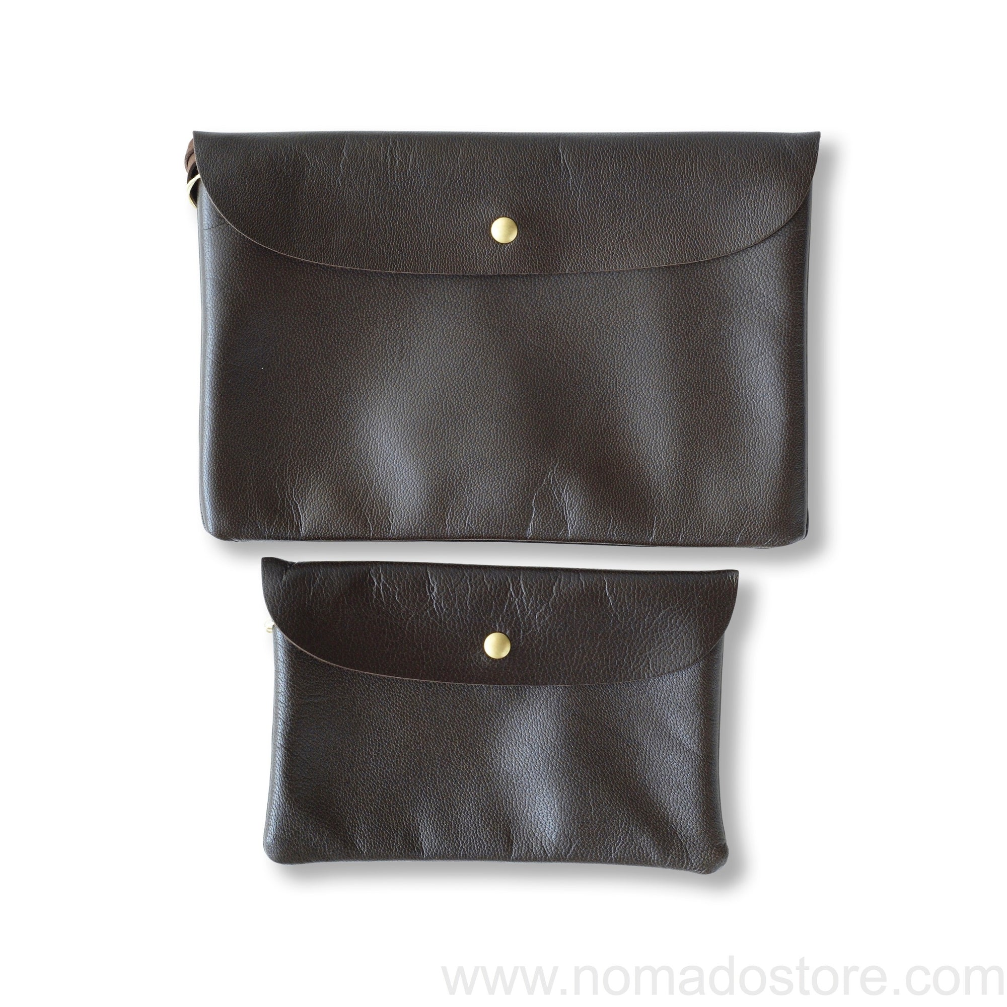 Marineday Robinson Pouch Brown (2 sizes) - NOMADO Store