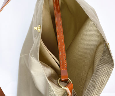 Marineday Fishfly 66Nylon Shoulder Bag (Beige) - NOMADO Store