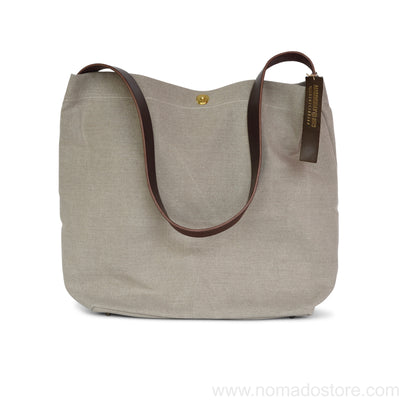 Marineday Fishfly Linen Canvas Shoulder Bag (Natural) - NOMADO Store