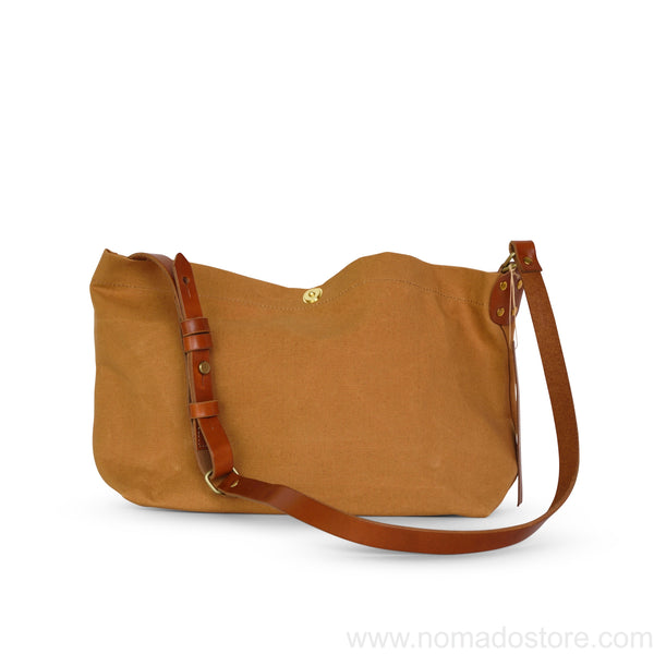 Marineday Airship Linen Canvas Shoulder Bag (Mustard) - NOMADO Store