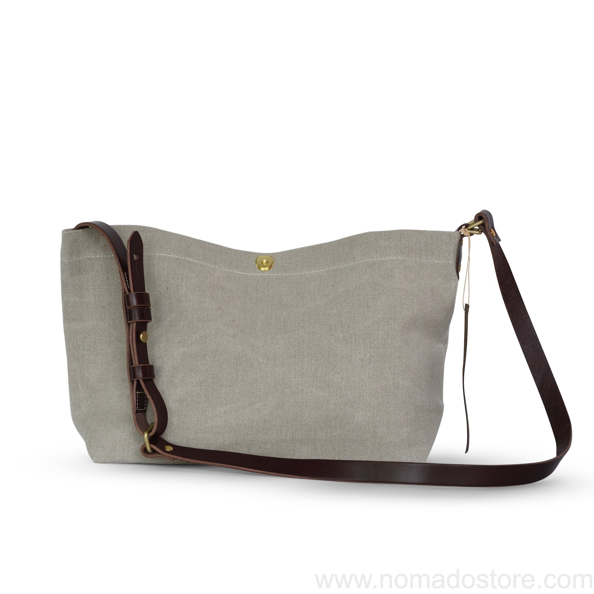 Marineday Airship Linen Canvas Shoulder Bag (Natural) - NOMADO Store
