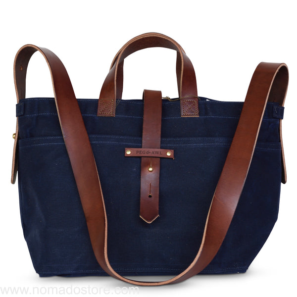 Peg and Awl Waxed Canvas Tote - Rook/Zipper - NOMADO Store