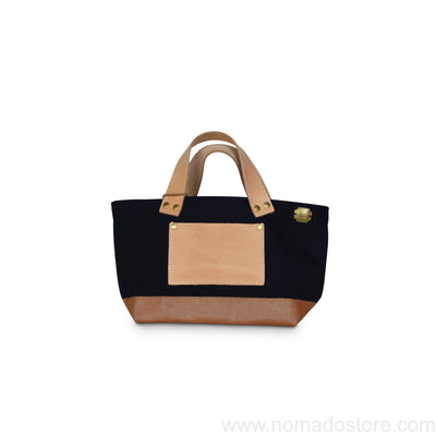The Superior Labor Engineer Bag Petite Black/Tan Paint/natural leather