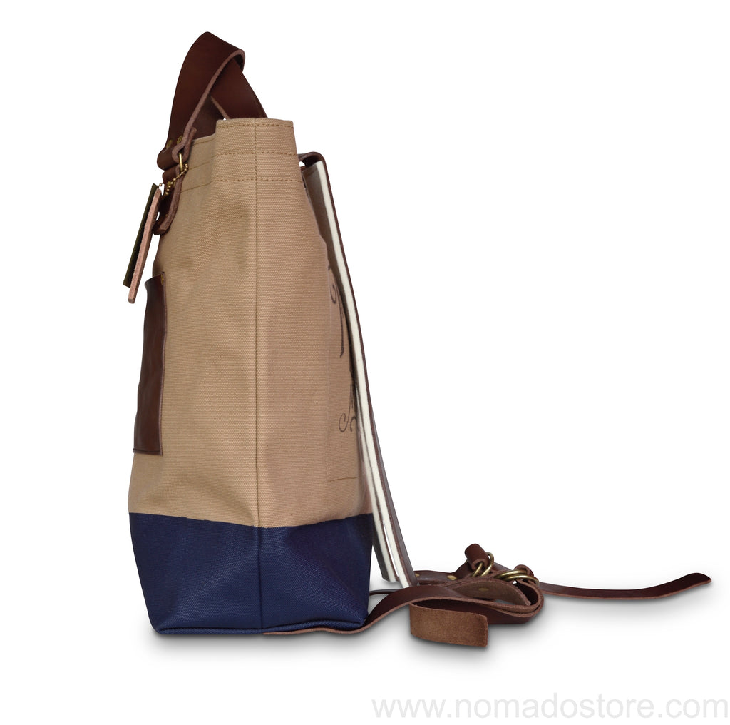 The Superior Labor Canvas 2way Backpack (Beige canvas -  3 colours)