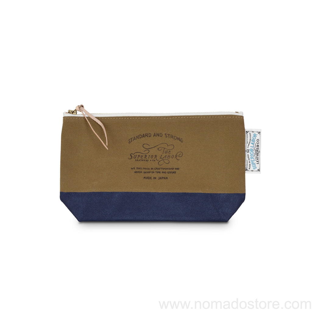 The Superior Labor Engineer pouch beige canvas, navy paint 2 sizes