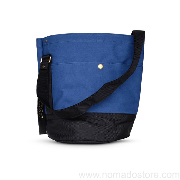 Marineday Roots Bucket Shoulder Bag (Indigo/Black) - NOMADO Store