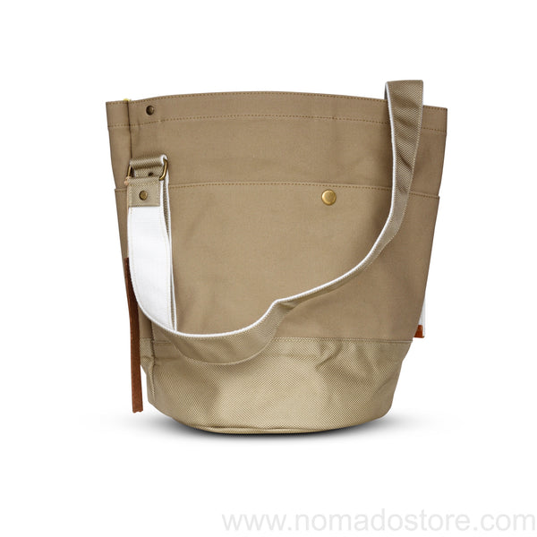 Marineday Roots Bucket Shoulder Bag (Beige) - NOMADO Store