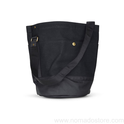 Marineday Roots Bucket Shoulder Bag (Black) - NOMADO Store